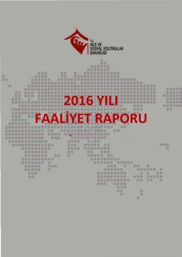 2016 YILI FAALİYET RAPORU