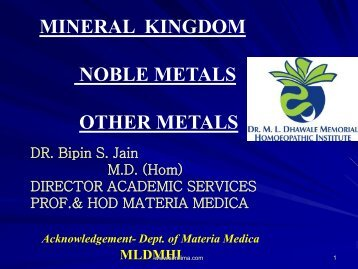 MINERAL KINGDOM NOBLE METALS OTHER METALS - Similima
