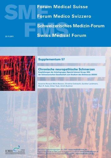 Supplementum 57 Chronische neuropathische Schmerzen - Swiss ...