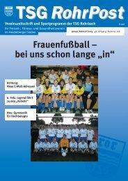 """Frauenfußball – bei uns schon lange """"in"""" - TSG Heidelberg-Rohrbach"""