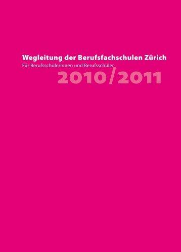 Wegleitung der Berufsfachschulen Zürich - Baugewerbliche ...