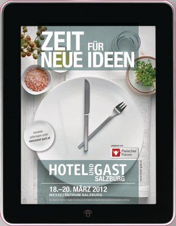 Aussteller Folder Hotel und Gast Salzburg - Hotel & Gast Wien