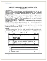 Efficacy of Homoeopathy in the Management of Cystitis - Similima