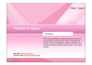 Trends in Japan Fashion - Web Japan