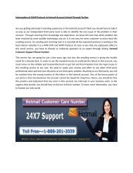 Hotmail customer email Support Phone number