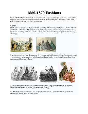 1860-1870 Fashions - Susan Craft
