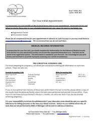 new patient health history questionnaire for women - RMA of Michigan