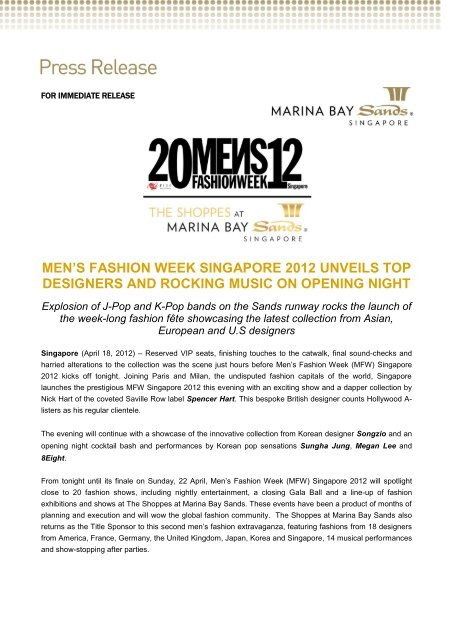 men's fashion week singapore 2012 unveils top designers and ...