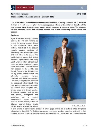 Trends in Men's Fashion Spring / Summer 2013 - Textination
