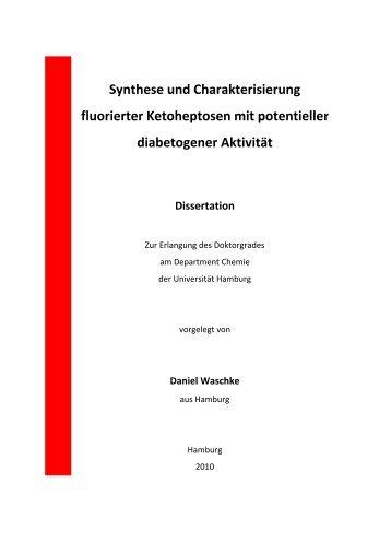 Synthese und Charakterisierung fluorierter Ketoheptosen mit ...