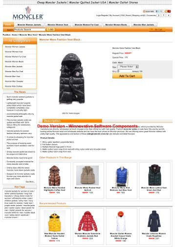 Sale Moncler Mens Fashion Vest Black Outlet ... - Moncler Jackets