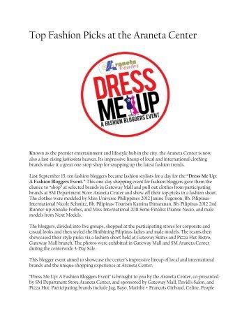 Top Fashion Picks at the Araneta Center - Araneta Group