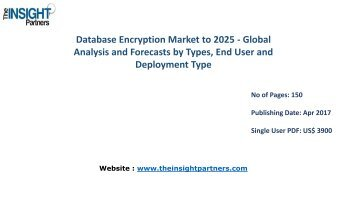 Global Database Encryption Industry to 2025 Forecast and Key developments |The Insight Partners