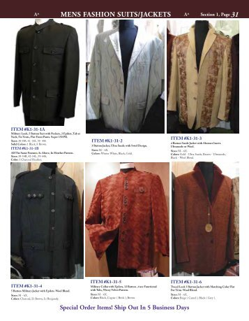 MENS FASHION SUITS/JACKETS