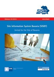 Site Information System Bavaria (SISBY)