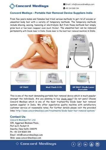 Portable Hair Removal Device Suppliers India
