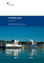 Preisliste 2012 - Holcim Süddeutschland