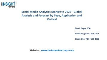 Global Social Media Analytics Industry Opportunities, Key Trends, Growth and Analysis to 2025 |The Insight Partners