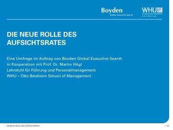 DIE NEUE ROLLE DES AUFSICHTSRATES - Boyden