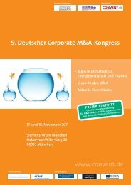 Deutscher Corporate M&A-Kongress - Convent