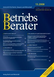 Zeitschrift für Recht, Steuern und Wirtschaft www ... - bank-tax.de