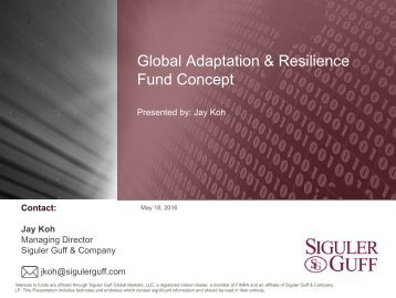 Global Adaptation & Resilience Fund Concept