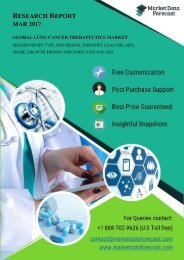 Industry Outlook And Analysis of Global Lung Cancer Therapeutics Market