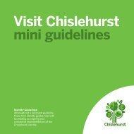 Visit Chislehurst CBG | Mini identity guidelines