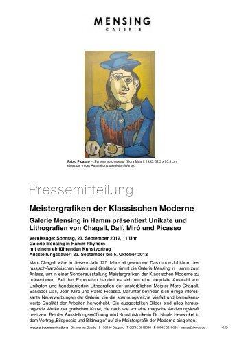 Galerie Mensing Hamm der klassischen moderne galerie mensing in hamm