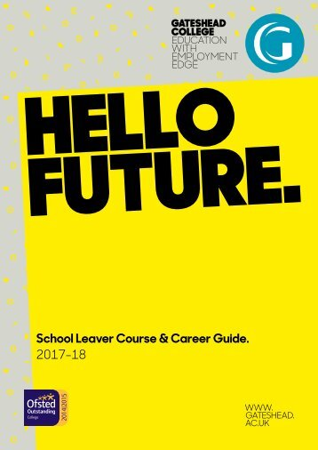 School Leaver Course & Career Guide 2017-18
