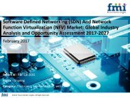 Software Defined Networking (SDN) And Network Function Virtualization (NFV) Market , 2017-2027
