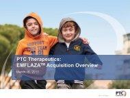 PTC Therapeutics EMFLAZA Acquisition Overview
