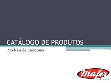 CATÁLOGO DE PRODUTOS - Mafer
