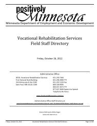 Vocational Rehabilitation Services Field Staff Directory