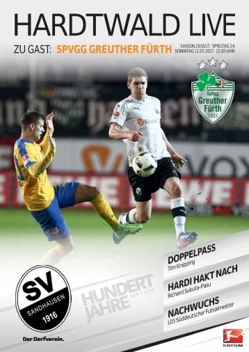 Hardtwald Live, Nr. 12, 16/17, SVS - SpVgg Greuther Fürth