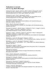 Publications in Journals Prof. Dr.-Ing. Martin Mensinger