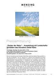 Ausstellung mit Landschafts- gemälden des ... - Galerie Mensing