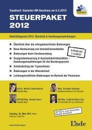 STEUERPAKET 2012 - Linde Verlag