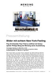 Bilder mit echtem New-York-Feeling Pop-Art ... - Galerie Mensing