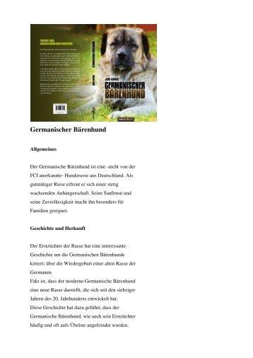 Der lange Weg der Germanischen Bärenhunde