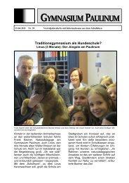 Paulinum-Info 39 - Gymnasium Paulinum