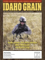 continued - Idaho Grain Producers Association