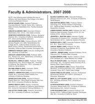 Faculty & Administrators, 2007-2008