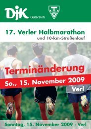 17. Verler Halbmarathon - Verler Volkslauf