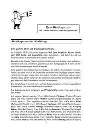 Eltern - Johann-Andreas-Schmeller-Gymnasium Nabburg