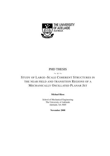 PHD THESIS ~∗~ - Digital Library - The University of Adelaide