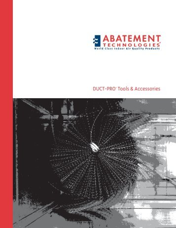 DUCT-PRO Tools & Accessorie - Abatement Technologies