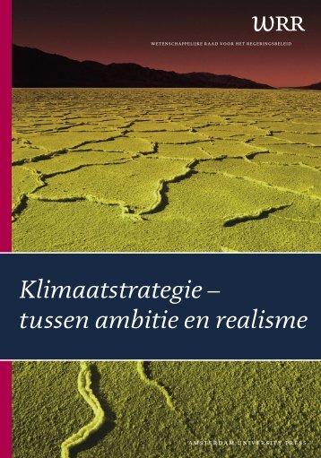 Klimaatstrategie - tussen ambitie en realisme - Wetenschappelijke ...