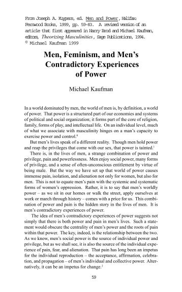 Men, Feminism, and Men's Contradictory Experiences of ... - MSMGF