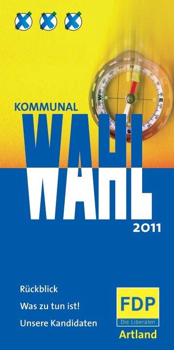 Kommunalwahl 2011 - FDP Artland